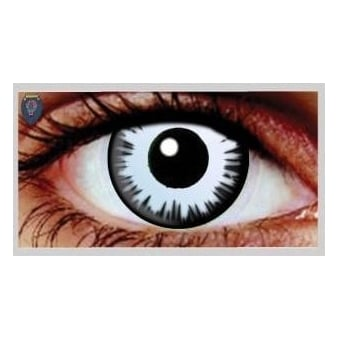 Fancy Dress Halloween Contact Lenses - Luna Eclipse (Usage:1,3,12 Months - 1 Pair)