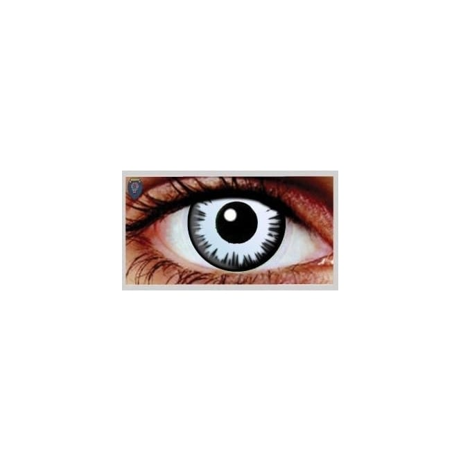 Mesmereyez Xtreme Fancy Dress Halloween Contact Lenses - Lunar UV (Usage:1,3,12 Months - 1 Pair)