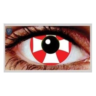Fancy Dress Halloween Contact Lenses - Maltese Cross (Usage:1,3,12 Months - 1 Pair)