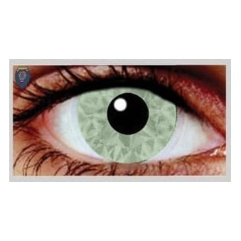 Fancy Dress Halloween Contact Lenses - Mina Olive UV (Usage:1,3,12 Months - 1 Pair)