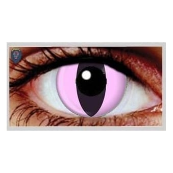 Fancy Dress Halloween Contact Lenses - Pink Cat (Usage:1,3,12 Months - 1 Pair)