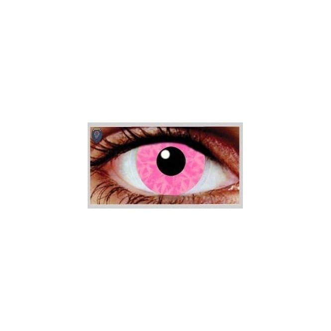 Mesmereyez Xtreme Fancy Dress Halloween Contact Lenses - Pink Ruki UV (Usage:1,3,12 Months - 1 Pair)
