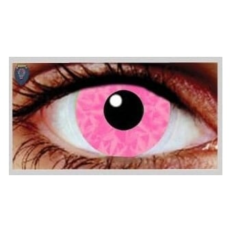 Fancy Dress Halloween Contact Lenses - Pink Ruki UV (Usage:1,3,12 Months - 1 Pair)