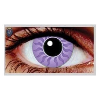Fancy Dress Halloween Contact Lenses - Plasma Purple (Usage:1,3,12 Months - 1 Pair)
