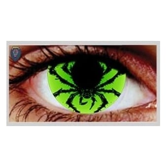 Fancy Dress Halloween Contact Lenses - Poison Spider (Usage:1,3,12 Months - 1 Pair)