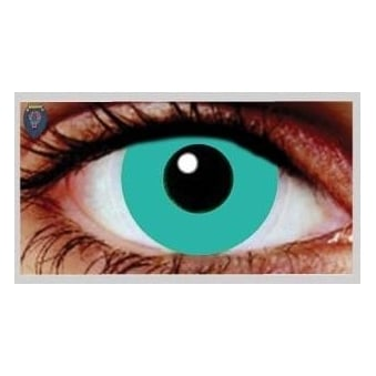 Fancy Dress Halloween Contact Lenses - Poseidon Green (Usage:1,3,12 Months - 1 Pair)