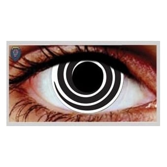 Fancy Dress Halloween Contact Lenses - Psycho (Usage:1,3,12 Months - 1 Pair)
