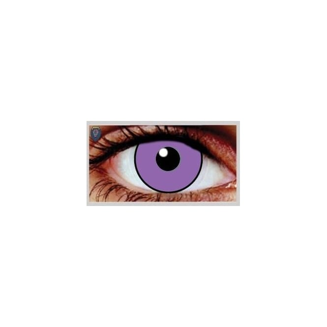 Mesmereyez Xtreme Fancy Dress Halloween Contact Lenses - Purple Poison UV (Usage:1,3,12 Months - 1 Pair)