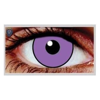 Fancy Dress Halloween Contact Lenses - Purple Poison UV (Usage:1,3,12 Months - 1 Pair)