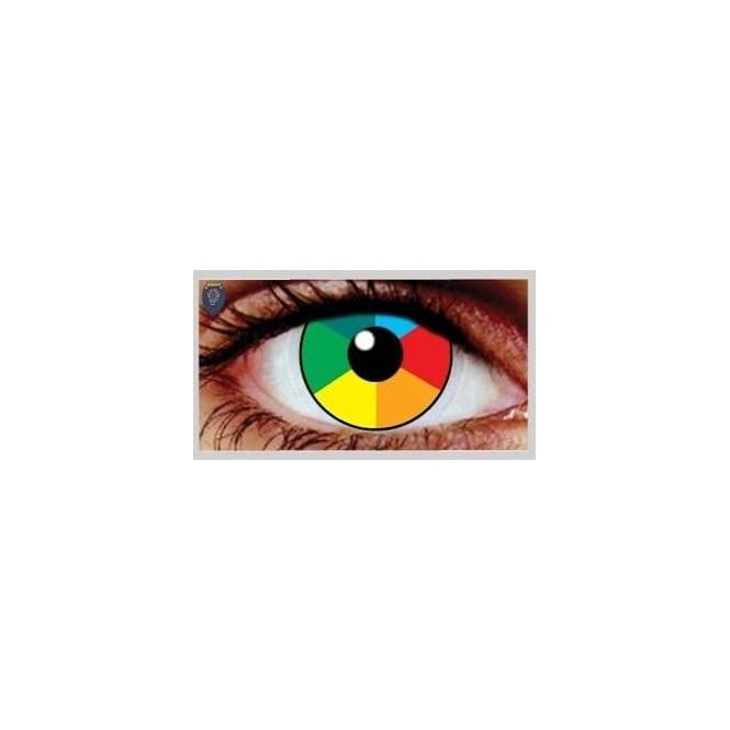 Mesmereyez Xtreme Fancy Dress Halloween Contact Lenses - Rainbow UV (Usage:1,3,12 Months - 1 Pair)