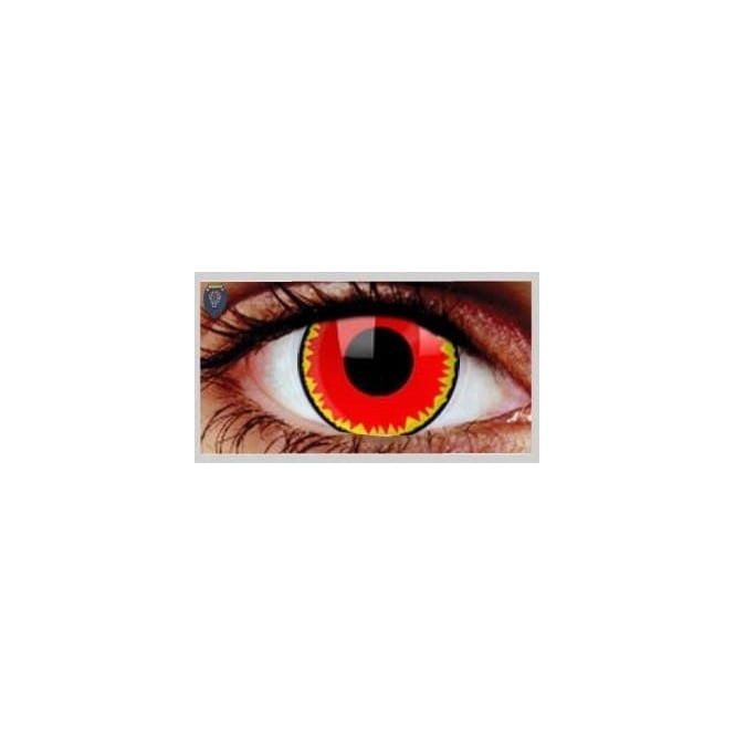 Mesmereyez Xtreme Fancy Dress Halloween Contact Lenses - Red Vampire (Usage:1,3,12 Months - 1 Pair)