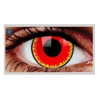 Fancy Dress Halloween Contact Lenses - Red Vampire (Usage:1,3,12 Months - 1 Pair)