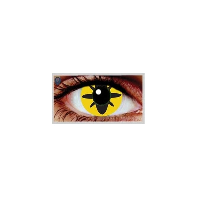 Mesmereyez Xtreme Fancy Dress Halloween Contact Lenses - Roach (Usage:1,3,12 Months - 1 Pair)