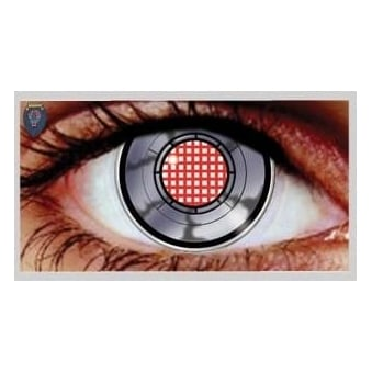 Fancy Dress Halloween Contact Lenses - Robot Eye (Usage:1,3,12 Months - 1 Pair)