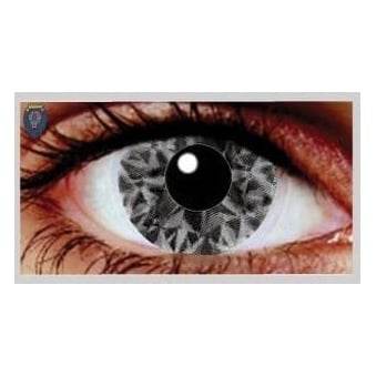 Fancy Dress Halloween Contact Lenses - Saf Black UV (Usage:1,3,12 Months - 1 Pair)