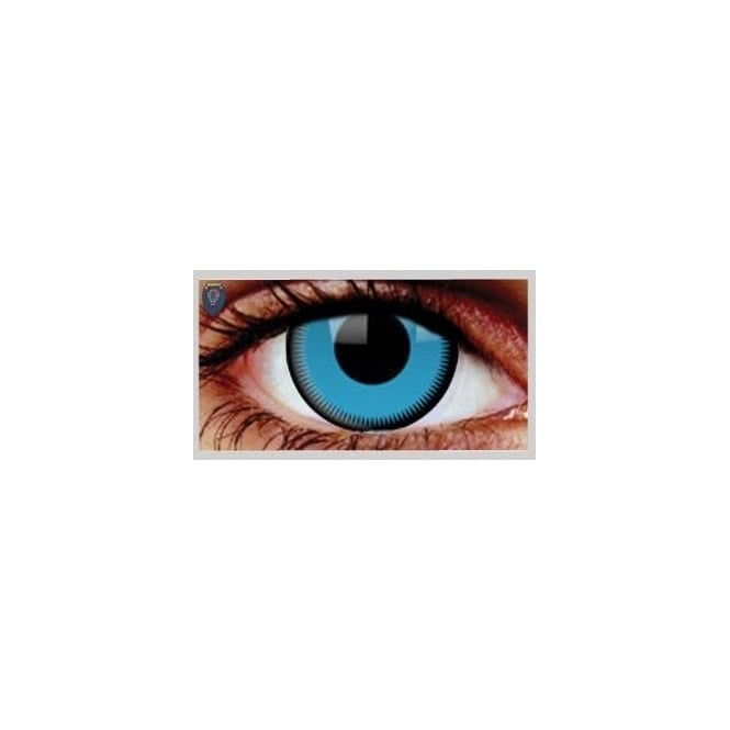 Mesmereyez Xtreme Fancy Dress Halloween Contact Lenses - Saw Blue (Usage:1,3,12 Months - 1 Pair)
