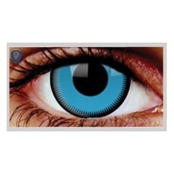 Fancy Dress Halloween Contact Lenses - Saw Blue (Usage:1,3,12 Months - 1 Pair)