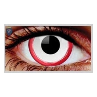 Fancy Dress Halloween Contact Lenses - Saw White (Usage:1,3,12 Months - 1 Pair)