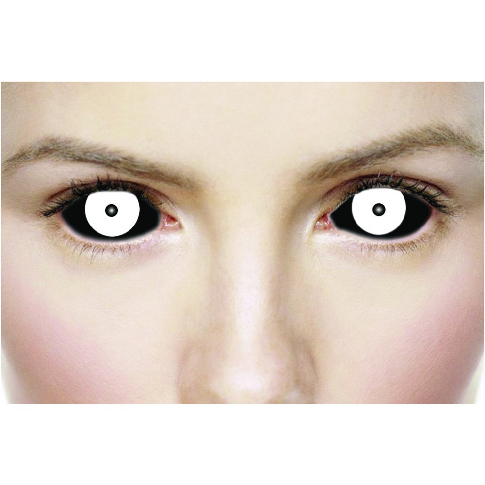 Mesmereyez Halloween Fancy Dress Lenses Sinister Black and ...