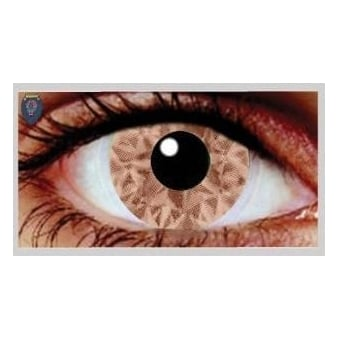 Fancy Dress Halloween Contact Lenses - Shuro Brown UV (Usage:1,3,12 Months - 1 Pair)