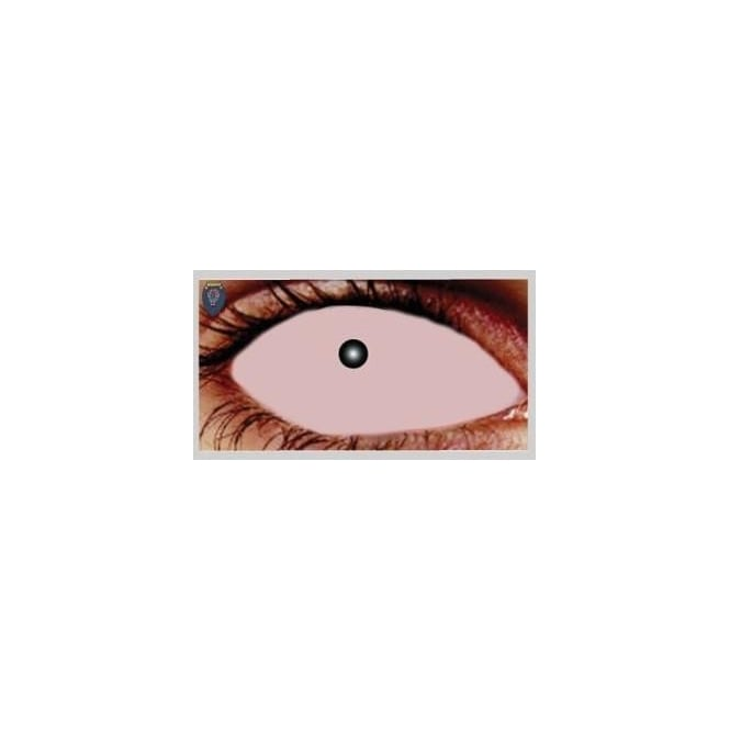Mesmereyez Xtreme Fancy Dress Halloween Contact Lenses - Skin Sclera (Covers WHOLE Eye) - (1 Pair) Solution Included