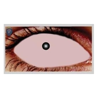 Fancy Dress Halloween Contact Lenses - Skin Sclera (Covers WHOLE Eye) - (1 Pair) Solution Included