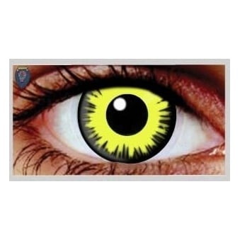 Fancy Dress Halloween Contact Lenses - Solar Eclipse (Usage:1,3,12 Months - 1 Pair)