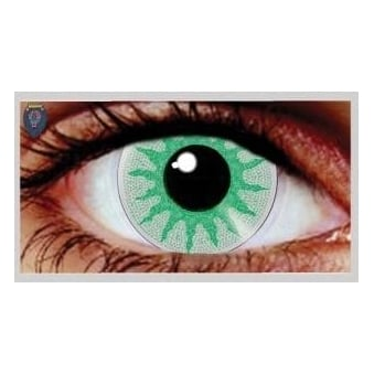 Fancy Dress Halloween Contact Lenses - Solar Green (Usage:1,3,12 Months - 1 Pair)