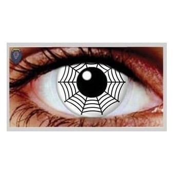 Fancy Dress Halloween Contact Lenses - Spider (Usage:1,3,12 Months - 1 Pair)