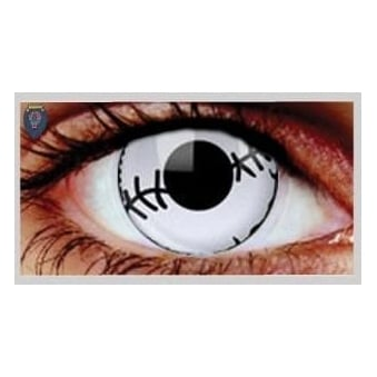 Fancy Dress Halloween Contact Lenses - Stitched Mummy (Usage:1,3,12 Months - 1 Pair)