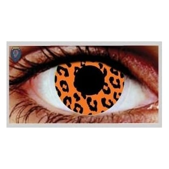 Fancy Dress Halloween Contact Lenses - Tiger (Usage:1,3,12 Months - 1 Pair)