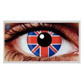 Fancy Dress Halloween Contact Lenses - Union Jack (Usage:1,3,12 Months - 1 Pair)