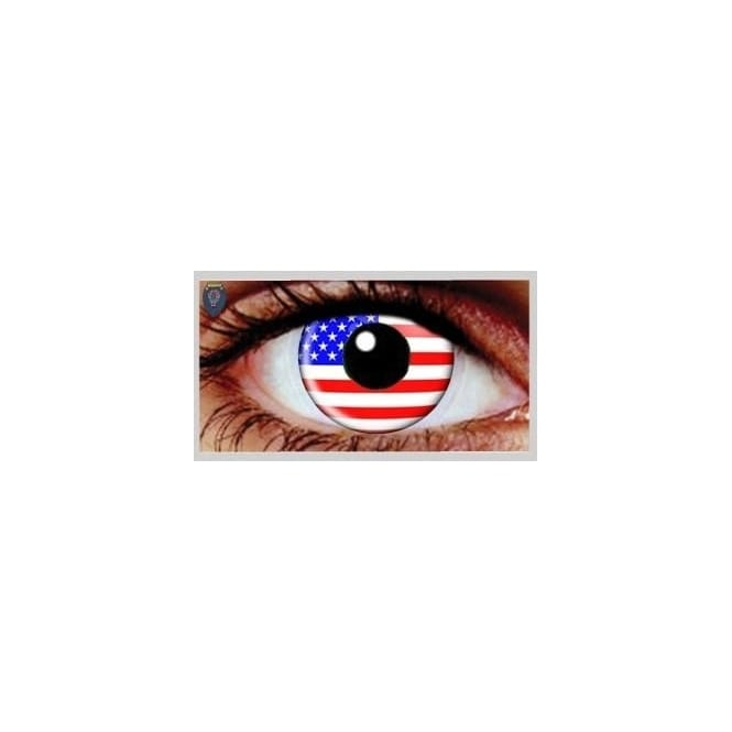Mesmereyez Xtreme Fancy Dress Halloween Contact Lenses - USA (Usage:1,3,12 Months - 1 Pair)