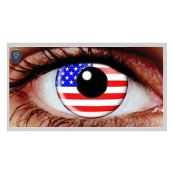 Fancy Dress Halloween Contact Lenses - USA (Usage:1,3,12 Months - 1 Pair)