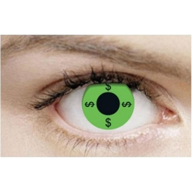 Mesmereyez Xtreme Fancy Dress Halloween Contact Lenses - $$$ (Usage:1,3,12 Months - 1 Pair)