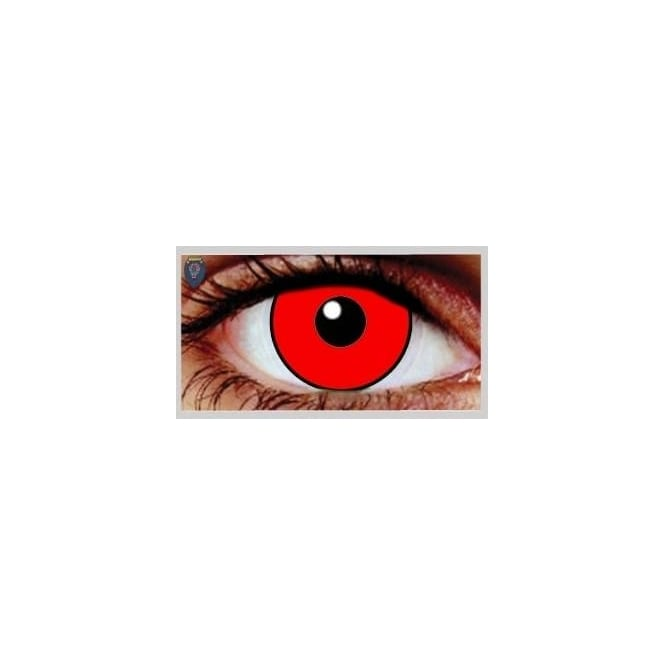 Mesmereyez Xtreme Fancy Dress Halloween Contact Lenses - Vino Red UV (Usage:1,3,12 Months - 1 Pair)