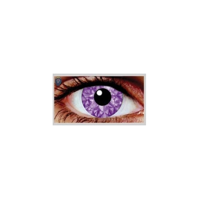 Mesmereyez Xtreme Fancy Dress Halloween Contact Lenses - Violet Kiss UV (Usage:1,3,12 Months - 1 Pair)