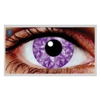 Fancy Dress Halloween Contact Lenses - Violet Kiss UV (Usage:1,3,12 Months - 1 Pair)