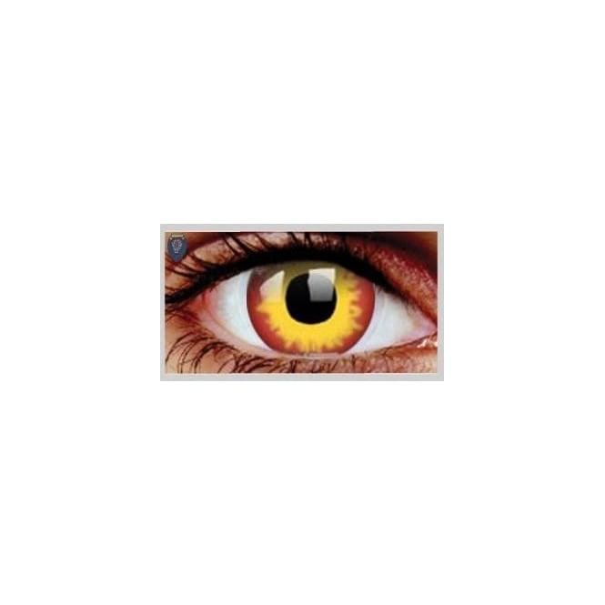 Mesmereyez Xtreme Fancy Dress Halloween Contact Lenses - Wild Fire (Usage:1,3,12 Months - 1 Pair)