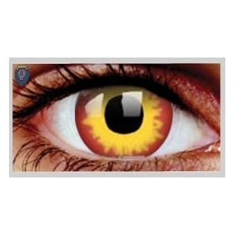 Fancy Dress Halloween Contact Lenses - Wild Fire (Usage:1,3,12 Months - 1 Pair)