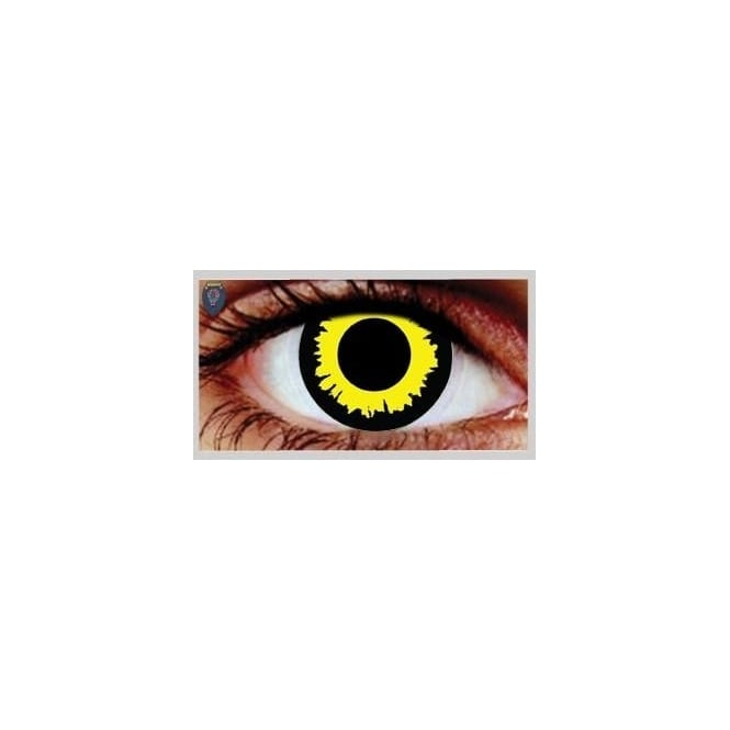 Mesmereyez Xtreme Fancy Dress Halloween Contact Lenses - Wolf (Usage:1,3,12 Months - 1 Pair)