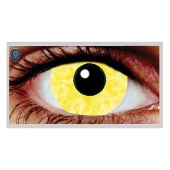 Fancy Dress Halloween Contact Lenses - Yellow Abs UV (Usage:1,3,12 Months - 1 Pair)
