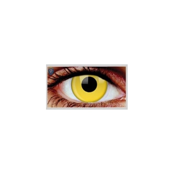 Mesmereyez Xtreme Fancy Dress Halloween Contact Lenses - Yellow (Usage:1,3,12 Months - 1 Pair)