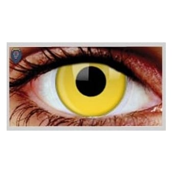 Fancy Dress Halloween Contact Lenses - Yellow (Usage:1,3,12 Months - 1 Pair)