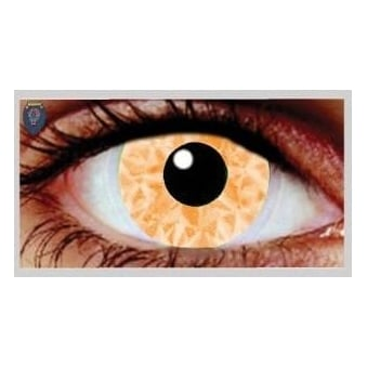 Fancy Dress Halloween Contact Lenses - Zaa Orange UV (Usage:1,3,12 Months - 1 Pair)