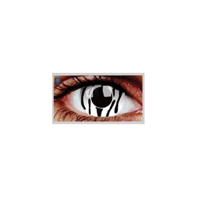 Mesmereyez Xtreme Fancy Dress Halloween Contact Lenses - Zebra (Usage:1,3,12 Months - 1 Pair)