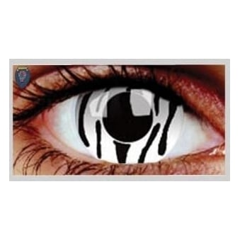 Fancy Dress Halloween Contact Lenses - Zebra (Usage:1,3,12 Months - 1 Pair)