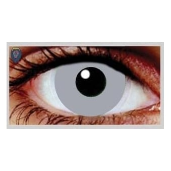 Fancy Dress Halloween Contact Lenses - Zombie Grey (Usage:1,3,12 Months - 1 Pair)