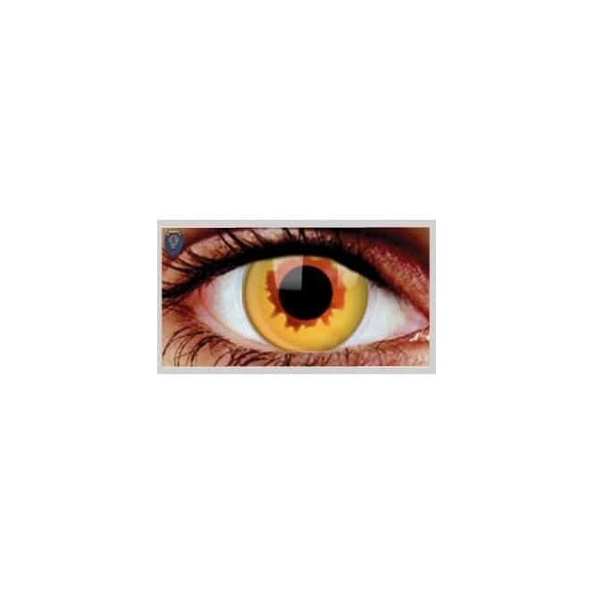 Mesmereyez Xtreme Fancy Dress One Day Halloween Contact Lenses - Golden Vampire (1 Pair)