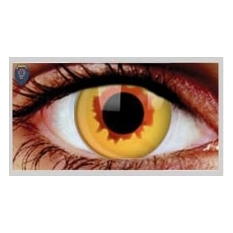 Fancy Dress One Day Halloween Contact Lenses - Golden Vampire (1 Pair)